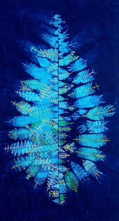 Shibori with a Twist by Jude Kingshott and Leslie Morgan at the Festival of Quilts UK 2016