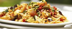 Grilled Vegetable and Orzo Salad, perfect for your next #MeatlessMonday
