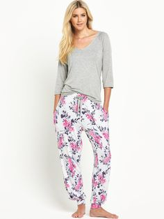 Sorbet Floral Viscose Pyjamas | very.co.uk