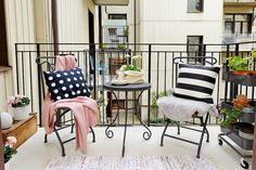 Como conseguir un balcón bonito y low cost en gris, negro y rosa empolvado