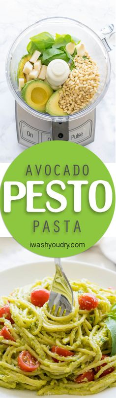 This Avocado Pesto Pasta is a super creamy and fresh pasta dish that always…