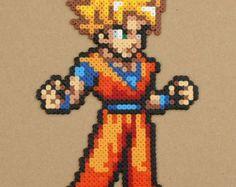 Goku Perler Hama Beads Sprite Dragonball Z