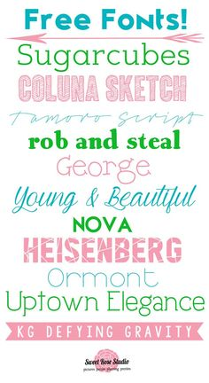 A handful of more awesome FREE fonts at Sweet Rose Studio!