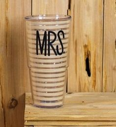 Every newlywed needs a Tervis tumbler with their new title! The Mrs. Tervis Tumbler has clean lines and a neutral color pattern and will be a hit with any newlywed or someone who's been married for years.