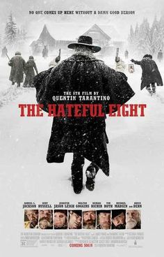 A great poster from Quentin Tarantino's 8th movie - The Hateful Eight! There's never been a Western quite like this. Ships fast. 11x17 inches. Check out the res