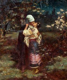 by Mykola Ivasyuk, Ukraine, from Iryna with love Russian Painting, Russian Art, Moonlight Painting, Ap Studio Art, Ukrainian Art, Classic Paintings, Couple Art, Art Music, Art World