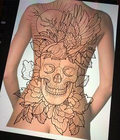 Looking for a new tattoo idea. Vida Loca Tattoo artist Jamie Winters has created this great concept back piece #tattoo #tattooartist #tattoodesign #vidalocatattoo #tattoos #tattooideas #femaletattoo #maletattoo #blackandgrey #brightandbold #ink #inked #tattoolife #girlswithtattoos #guyswithtattoos