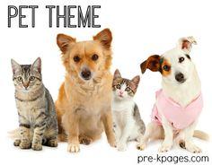 Pet Theme Activities for Preschool and Kindergarten