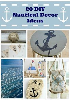Id love to do some of these for my lighthouse bathroom! DIY Nautical Decor Ideas