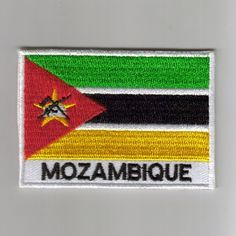 Mozambique flag embroidered patches
