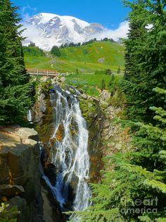 ✮ Myrtle Falls, Mt Rainier National Park