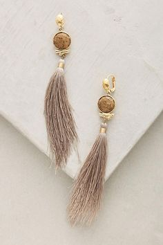 Slide View: 1: Aserti Tassel Drops Tassel Jewelry, Fall Jewelry, Tassel Earrings, Unique Jewelry, Diy Jewelry, Jewelry Box, Handmade Jewelry, Jewelery, Papaya Tree