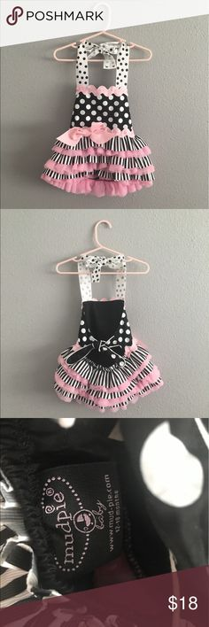 Mud Pie Stripe Polka Dot Open Back Tutu Dress Mud Pie Stripe Polka Dot Open Back Tutu Dress. Size 12-18 months. Very well made! Great for pictures. Mud Pie Dresses Casual