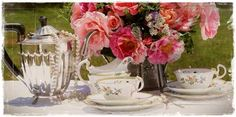 Crockery hire - high tea party 74