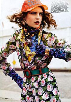 'Buffalo Girl' from Elle US, March 2011 .  Follow Aleksandra's latest styling work on her Facebook