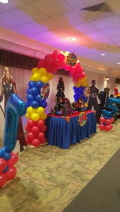Superhero Backdrop Stage Superhero Themed Party Planner