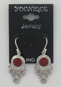 Coral Flower .925 Sterling Silver
