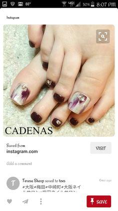 Pedicure Designs, Toe Nail Designs, Nail Polish Designs, Colorful Nail Designs, Nails Only, Love Nails, My Nails, Gorgeous Nails, Pretty Nails