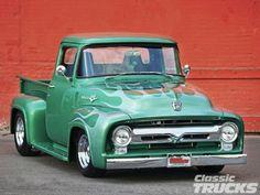 A Brief History Of Ford Trucks – Best Worst Car Insurance Ford 56, 1956 Ford Truck, Old Ford Trucks, Old Pickup Trucks, Hot Rod Trucks, Lifted Trucks, Cool Trucks, Lifted Ford, 4x4 Trucks