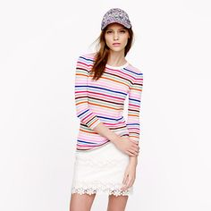 Collection featherweight cashmere Tippi sweater in candy stripe - Pullover - Women's sweaters - J.Crew