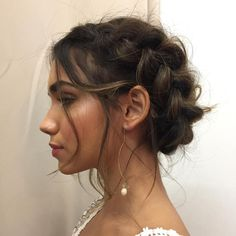 Messy Dutch Braid Updo