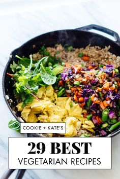 29 Best Vegetarian Recipes - Cookie and Kate Find 29 of the best vegetarian recipes on the all-veget Vegetarian Main Dishes, Best Vegetarian Recipes, Vegetarian Recipes Dinner, Veggie Recipes, Whole Food Recipes, Diet Recipes, Vegetarian Italian, Meatless Recipes, Applebees Recipes