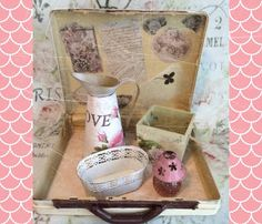 shabby luggage details