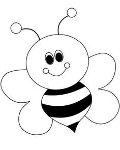 arı boyama sayfaları Arı boyama sayfası, Bee coloring page, Dibujo de abeja, Раскрашивание. Art Drawings For Kids, Drawing For Kids, Easy Drawings, Art For Kids, Bee Drawing, Bee Crafts, Preschool Crafts, Preschool Printables, Free Preschool