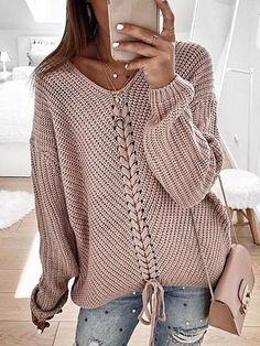 Rosa Pullover, Pullover Mode, Pullover Sweaters, Women's Sweaters, Sweatshirt, Winter Sweaters, Black Sweaters, Loose Sweater, Long Sleeve Sweater