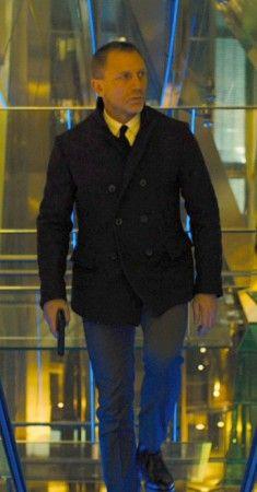 Skyfall Pea Coat Daniel Craig James Bond