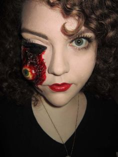 This is ace- I would probably develop the makeup further though...add some more gore and guts. Posted on Helloween Ideas , Blogspot