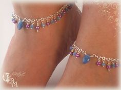 One of my double anklets creation. #anklets, #jewelry #goddess