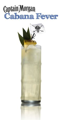 Cabana Fever! Delicious summer recipe with rum, pineapple, lime juice, and ginger beer!