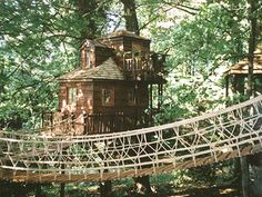 treehouse | little cottage in the woods. If I could choose any of these tree ...