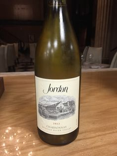 Jordan Chardonnay, Russian River ('12) $17, $68 - Bright acidity with a touch of oak and layers of tropical mango, lemon, and ginger snap