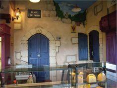 Custom painted commercial mural.  #shopmuralidea #cafemuralidea #custommural