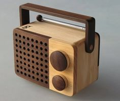 The wooden radio by Magno is fabricated by hand, piece by piece, at Singgih Susilo Kartono's workshop in Temanggung in Central Java (Indonesia).