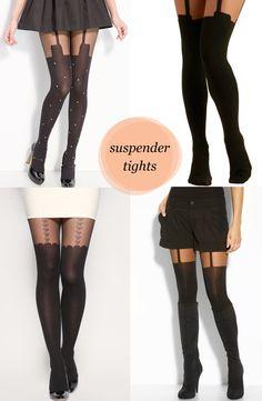 I love suspender tights.