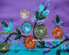Resham and sequin embroidery