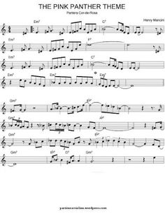 Free Sheet Music for Violin: Movies Themes. Remember dad teaching me Pink Panther on piano when I was little. Seeing the title of this brought back memories. Free Violin Sheet Music, Trumpet Sheet Music, Clarinet Sheet Music, Saxophone Music, Piano Music, Music Sheets, Violin Songs, Solfege Piano, Panthères Roses