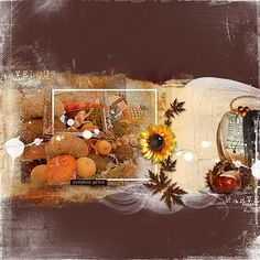 ArtPlay Palette Harvest by Anna Aspnes LeafSprinklez No 1 by Anna Aspnes MultiMedia Pumpkins No 1 by Anna Aspnes Fall WordMix No 1 by Anna Aspnes 12 X 12 Textured Overlays No 6 by Anna Aspnes