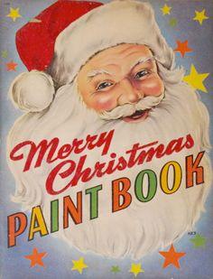 Merry Christmas Paint Book Whitman Publishing, 1947. Eileen Fox Vaughan, Illustrator