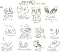 I apply slightly different observations about boys' footwear. But I get it.