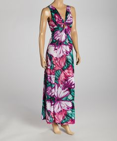 Take a look at the Miss Maxi Purple & White Floral Sleeveless Maxi Dress on #zulily today!