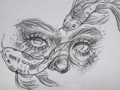 Pencil Art Drawings, Cool Art Drawings, Art Drawings Sketches, Drawing Ideas, Easy Drawings, Drawing Faces, Girl Face Drawing, Drawing Tips, Drawings Of Eyes