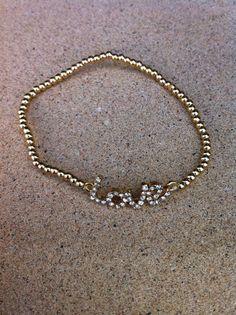 Celebrity inspired LOVE Bracelet with gold by GlitzGlamourandBling, $12.00