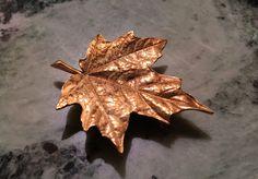 #18kt #gold maple leave #brooch