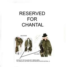 RESERVED for CHANTAL Walton  Moss Leather Suede Shawl Wrap Custom version