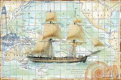 Nautical Journey-b Digital Art