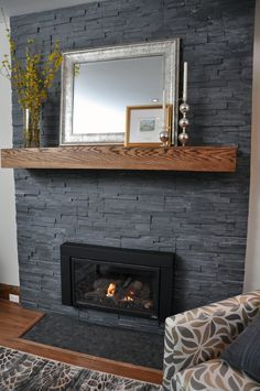 9 Secret Advice To Make An Outstanding Home Bathroom Remodel Find more ideas: Modern Fireplace Mantle Remodel Stone Living Room Fireplace Outdoor Fireplace Makeover Favorites Farmhouse Fireplace Ideas DIY Classic Fireplace Tile Modern Fireplace Mantles, Black Brick Fireplace, Painted Stone Fireplace, Classic Fireplace, Brick Fireplace Makeover, Home Fireplace, Living Room With Fireplace, Fireplace Surrounds, Fireplace Design